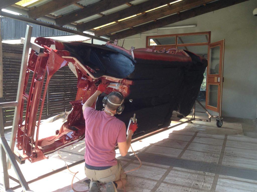Arbeiten mit dem Auto Drehgestell